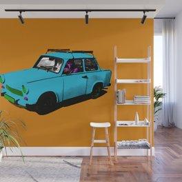 Trabant blue pop Wall Mural