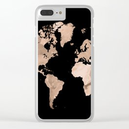 Design 97 world map Clear iPhone Case