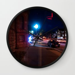 Walking Out Wall Clock