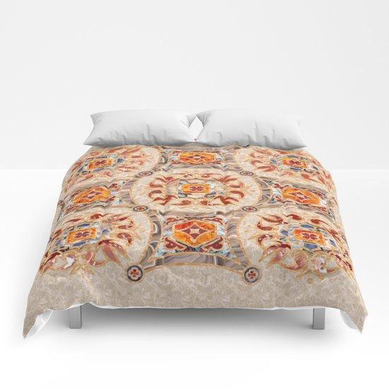 Brown Mandala 01 Comforters