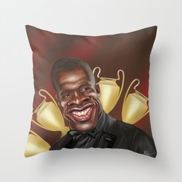 Clarence Seedorf Caricature Throw Pillow