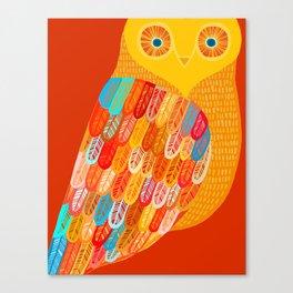 Terracotta Owl Canvas Print