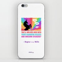 regina mills iPhone & iPod Skins featuring Regina Sassy Mills | Rainbow kisses and unicorn stickers by CLM Design