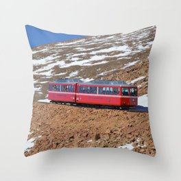 The Trolly Throw Pillow