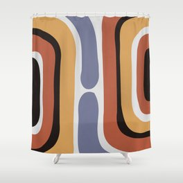 Reverse Shapes II Shower Curtain