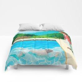 stand and swim people Comforters