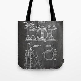Drum Set Patent - Drummer Art - Black Chalkboard Tote Bag