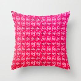 Hey hey hey   [gradient] Throw Pillow