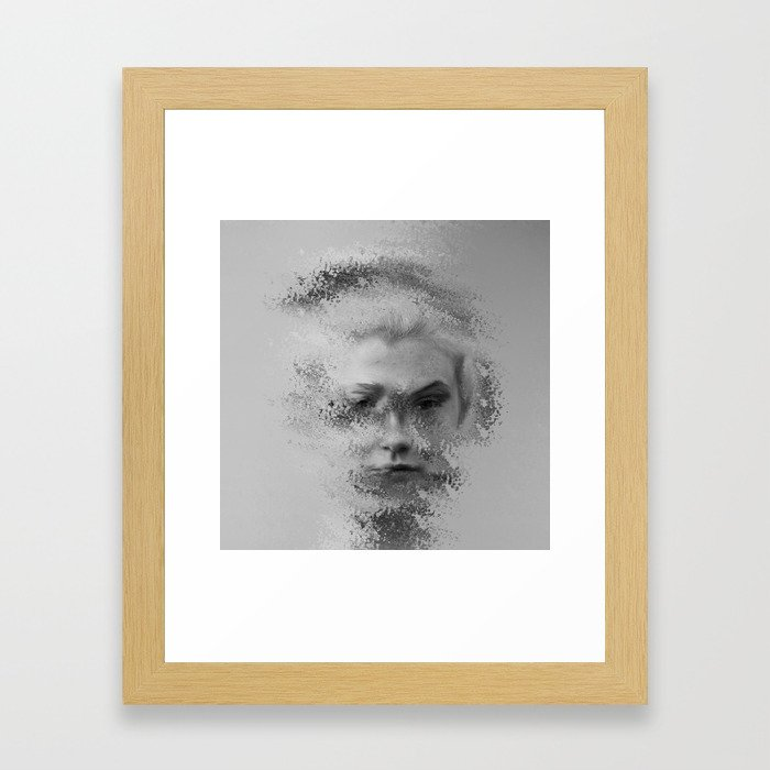 The Unknown selfie Framed Art Print