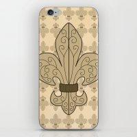 fleur de lis iPhone & iPod Skins featuring Fleur de Lis by eMJay Digital Art