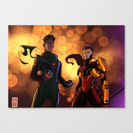 Earth and Mars Canvas Print