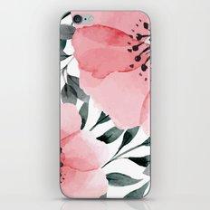 Big Watercolor Flowers iPhone Skin