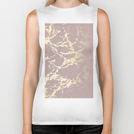 Kintsugi Ceramic Gold on Clay Pink Biker Tank