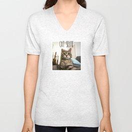 Cat Selfie Unisex V-Neck