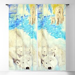 Polar Bears Trying to Survive Blackout Curtain
