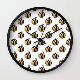 Bee Polka Dot Wall Clock