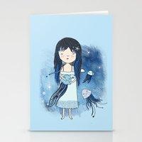 medusa Stationery Cards featuring Medusa by Kristina Sabaite