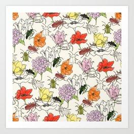 bugs -n- flowers Art Print