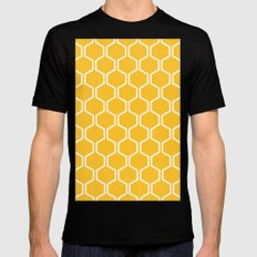 BEAUTY OF NATURE (bee , bees , yellow) Black Mens Fitted Tee MEDIUM