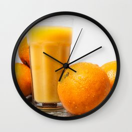 When life gives you oranges Wall Clock