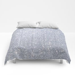Silver Metallic Sparkly Glitter Comforters
