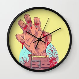 Nails on Nails Wall Clock
