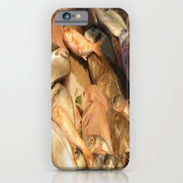 Variety of Fresh Fish Seafood on Ice iPhone Case