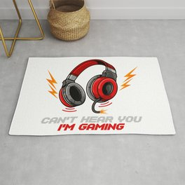 Can't Hear You I'm Gaming - Video Gamer Headset Rug