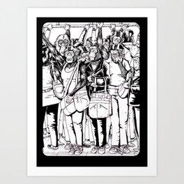 subway station apes 2 Art Print