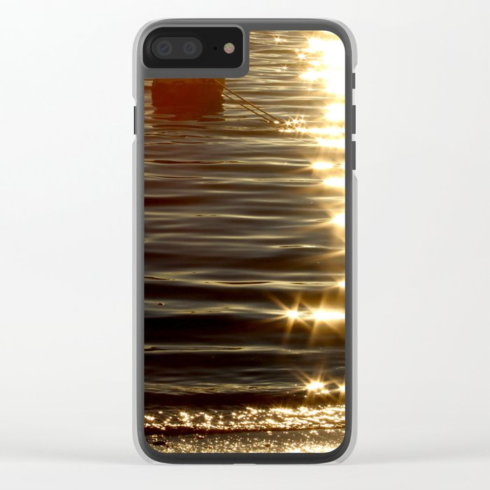 sparkly reflection Clear iPhone Case