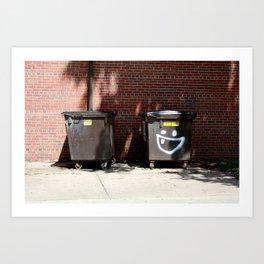 happy dumpster. Art Print
