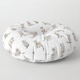 Raccoon pattern Floor Pillow