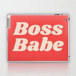 Retro Boss Babe - Coral Laptop & iPad Skin