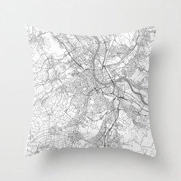 Basel Map Line Throw Pillow