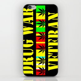 DRUG WAR VETERAN iPhone Skin