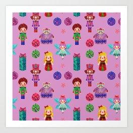 Pink Christmas - The Nutcracker Edit View Art Print
