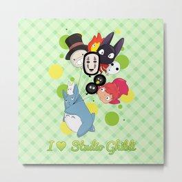 I ♥ Studio Ghibli Metal Print