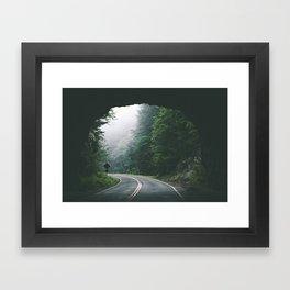 Through The Tunnel Framed Art Print