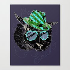 Hipster Sheepster Canvas Print