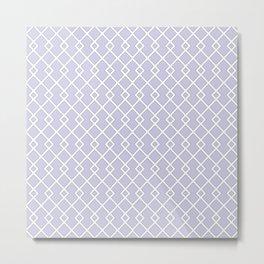 Periwinkle Purple Diamond Pattern Metal Print