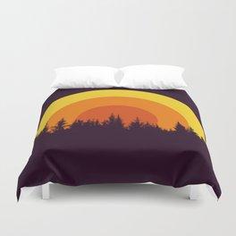 summer mountain Duvet Cover