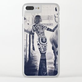 Runway Stable Clear iPhone Case