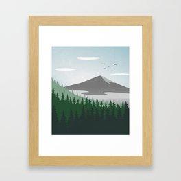 Mountain Forest Scene Framed Art Print