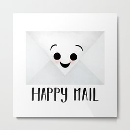 Happy Mail Metal Print