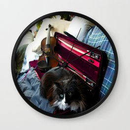 The Cat and the Fiddle (Gracie Queen of Chicago Collection) Wall Clock