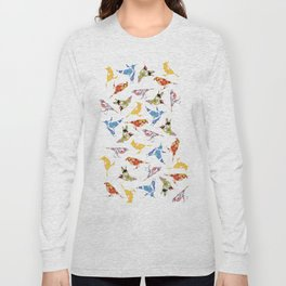 Vintage Wallpaper Birds Long Sleeve T-shirt