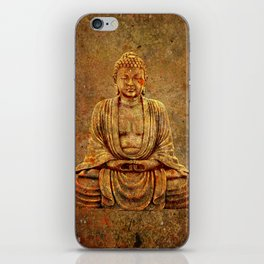 Sand Stone Sitting Buddha iPhone Skin