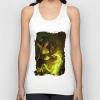 witchcraft Tank Tops featuring Witchcraft by Pinturero