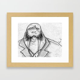 Mr Walrus u cant dance.. Framed Art Print