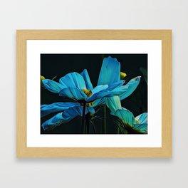 Cool Blue Comos Framed Art Print